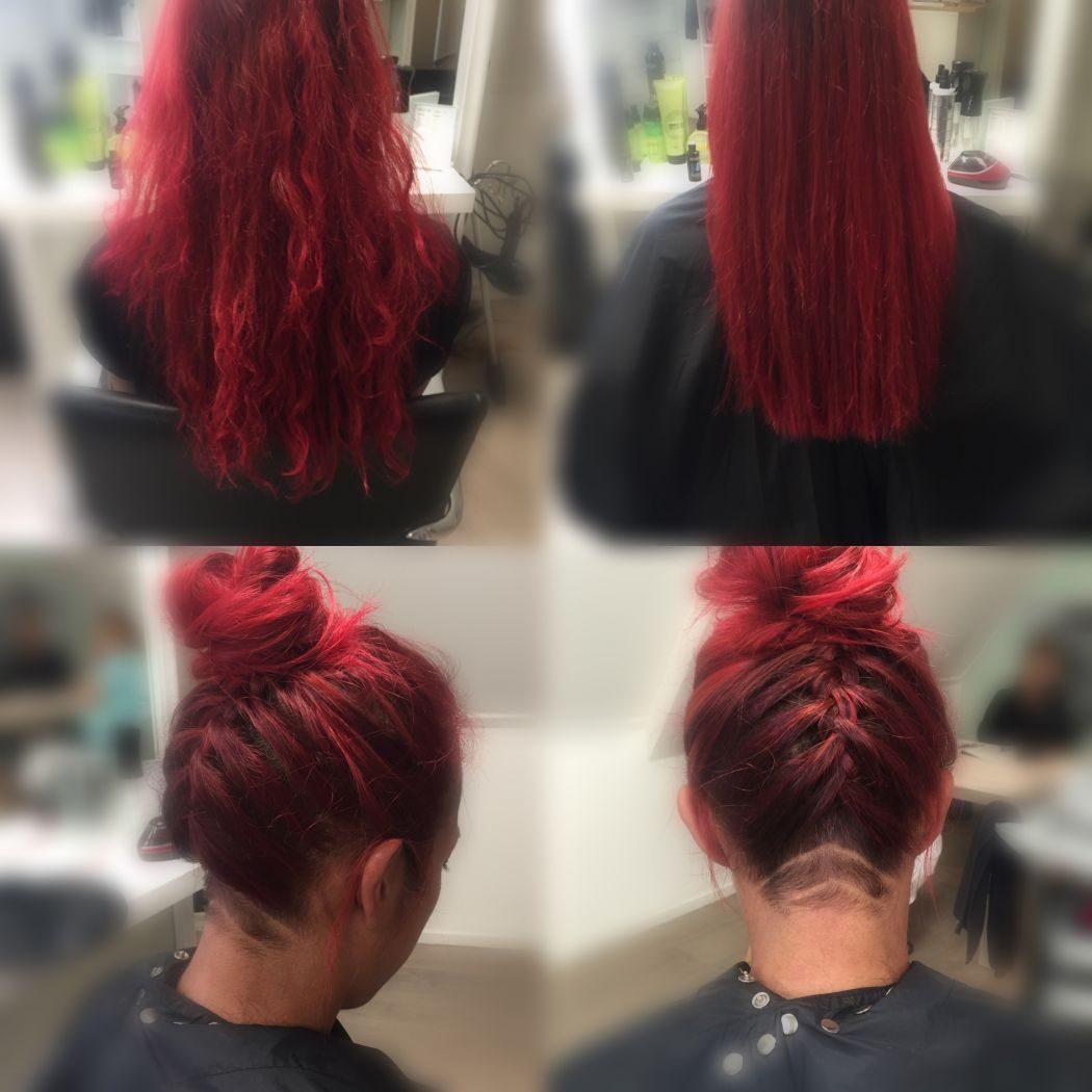 >Deze mooi red head kwam met een leuke wens, staat haar goed! (Kleur is niet mijn werk)